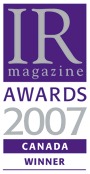 IR Awards 2007